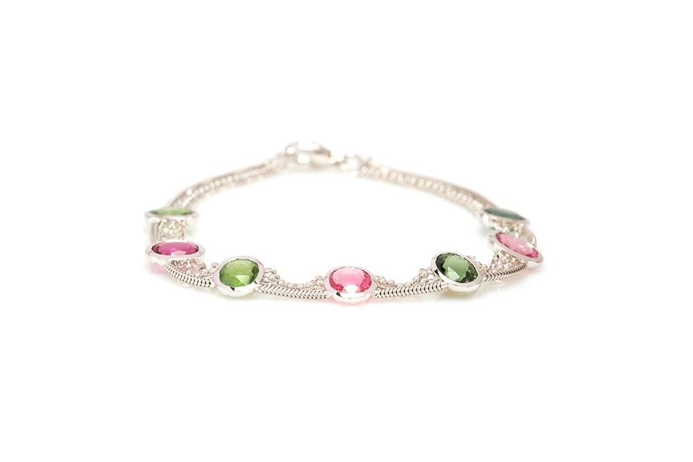Bracelet Jaipur, Or et Tourmalines 1