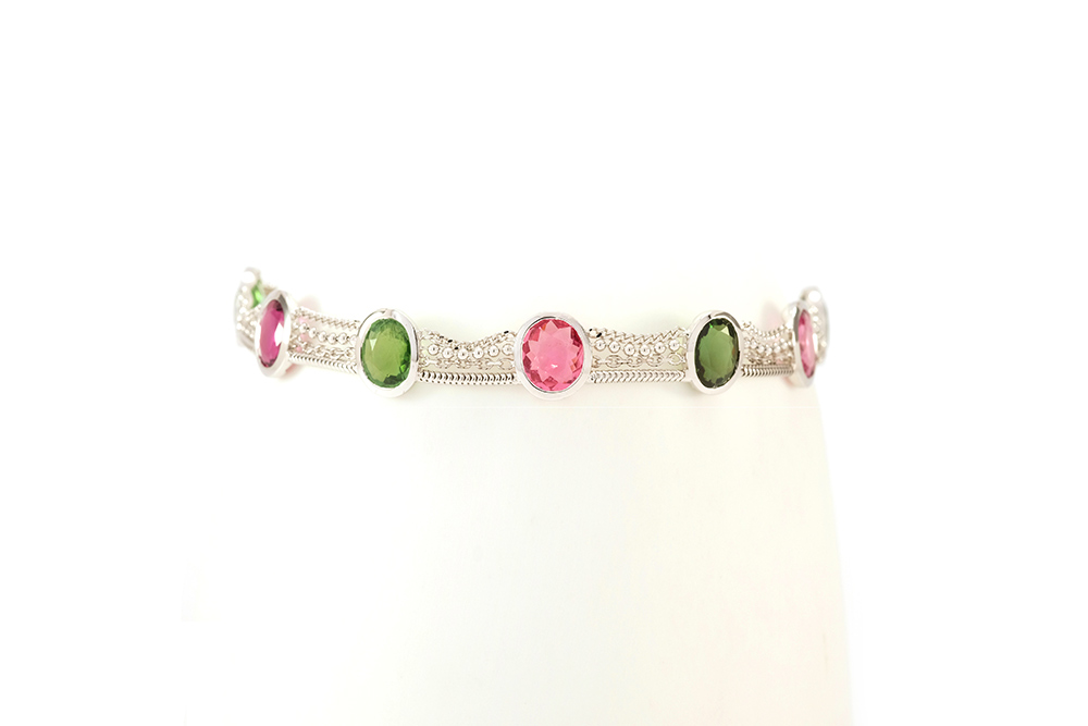 Bracelet Jaipur, Or et Tourmalines 2