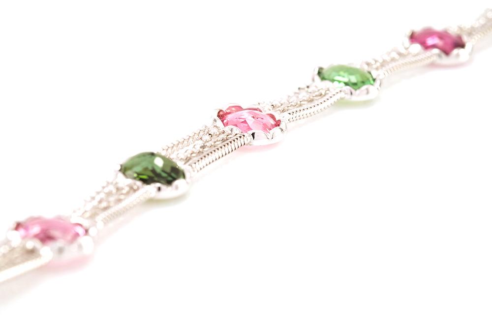 Bracelet Jaipur, Or et Tourmalines 4