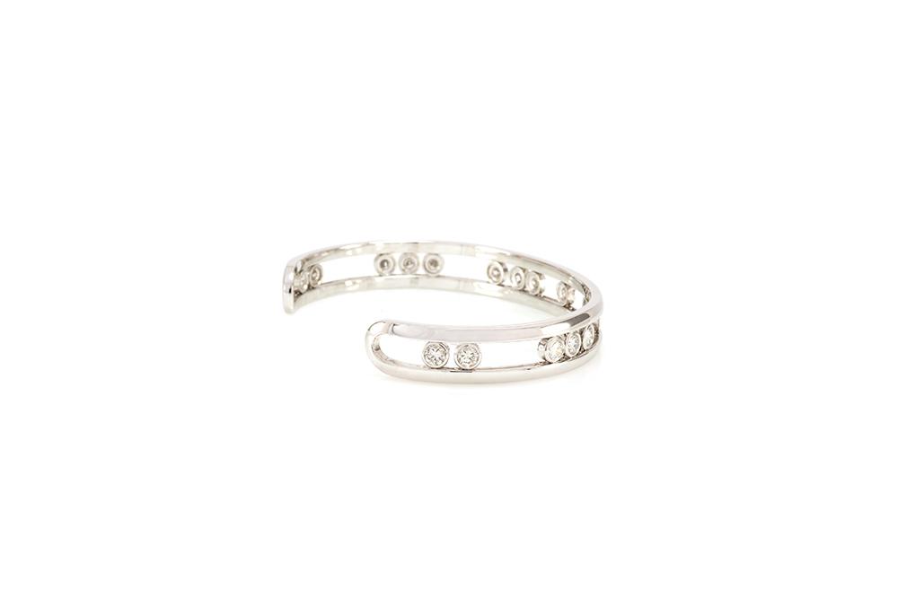 Bracelet Love U, Or blanc et diamants 2