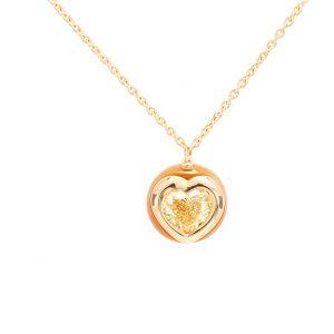 Pendentif Golden, or diamant et perle 1