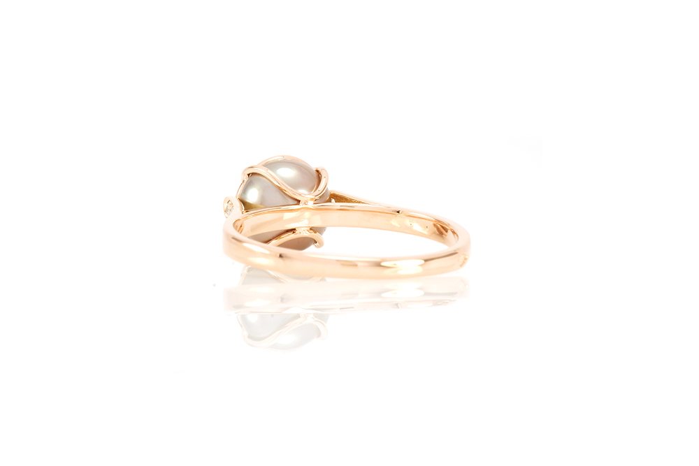 Bague Elipse, or rouge, diamants, perle et rubellite 4