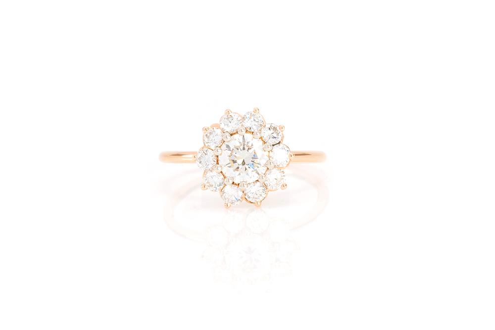 Bague Margarette, Or Rouge et Diamants 3