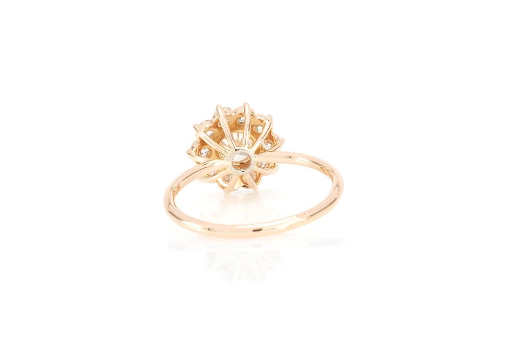 Bague Margarette, Or Rouge et Diamants 4