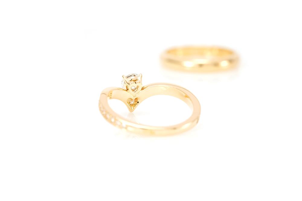 Solitaire Diadème, or jaune et diamants 5