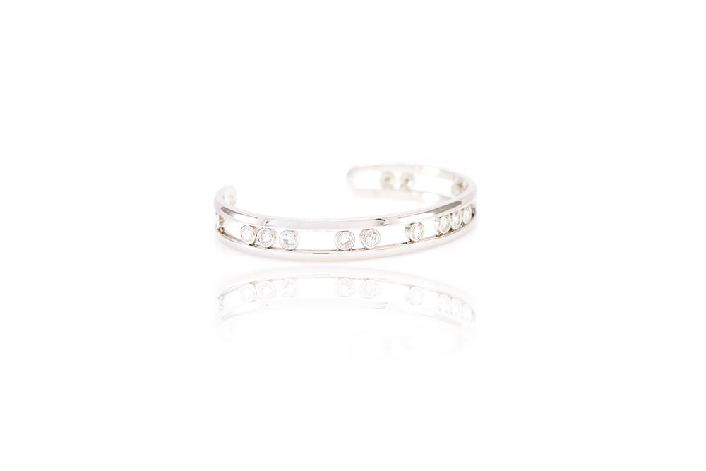 Bracelet Love U, Or blanc et diamants 1