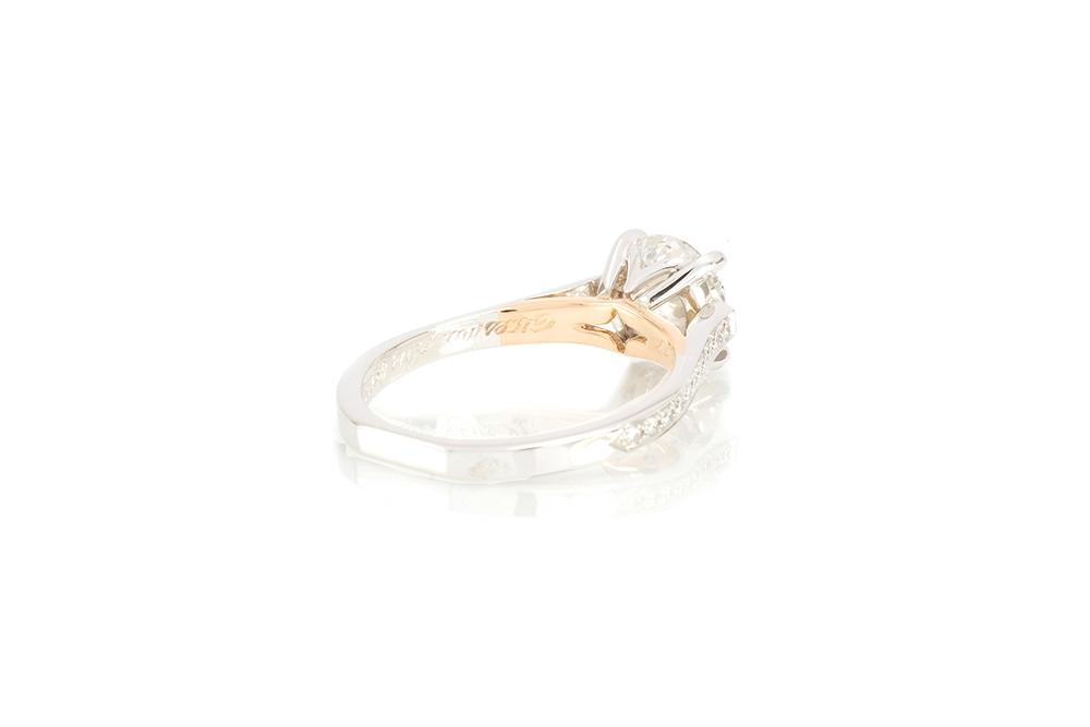 solitaire destin, or blanc et diamants 5
