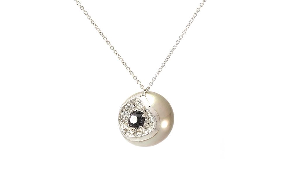 Pendentif Heart Mother, Perle de Tahiti, or diamants et spinelle 1