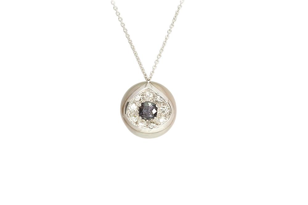 Pendentif Heart Mother, Perle de Tahiti, or diamants et spinelle 5