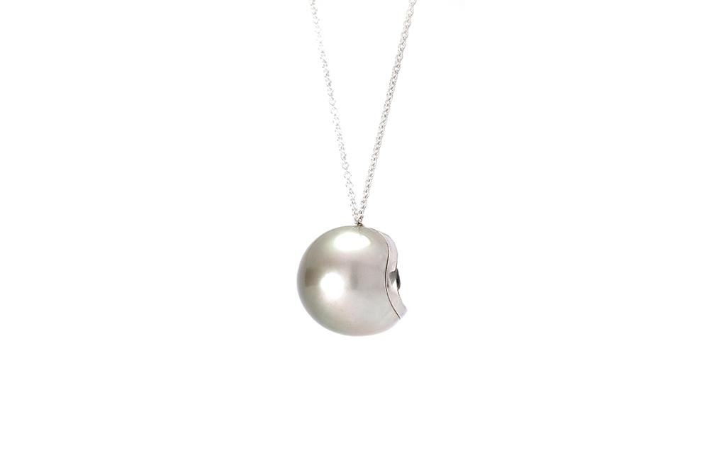 Pendentif Heart Mother, Perle de Tahiti, or diamants et spinelle 6