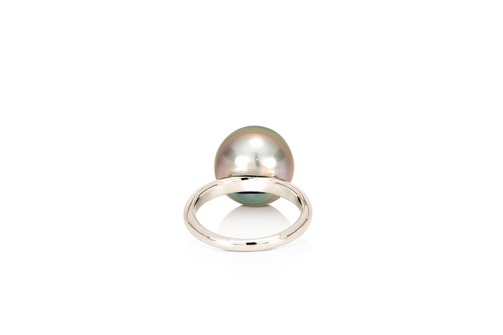 Bague Caviar, Or perle et Aigue-Marine 3