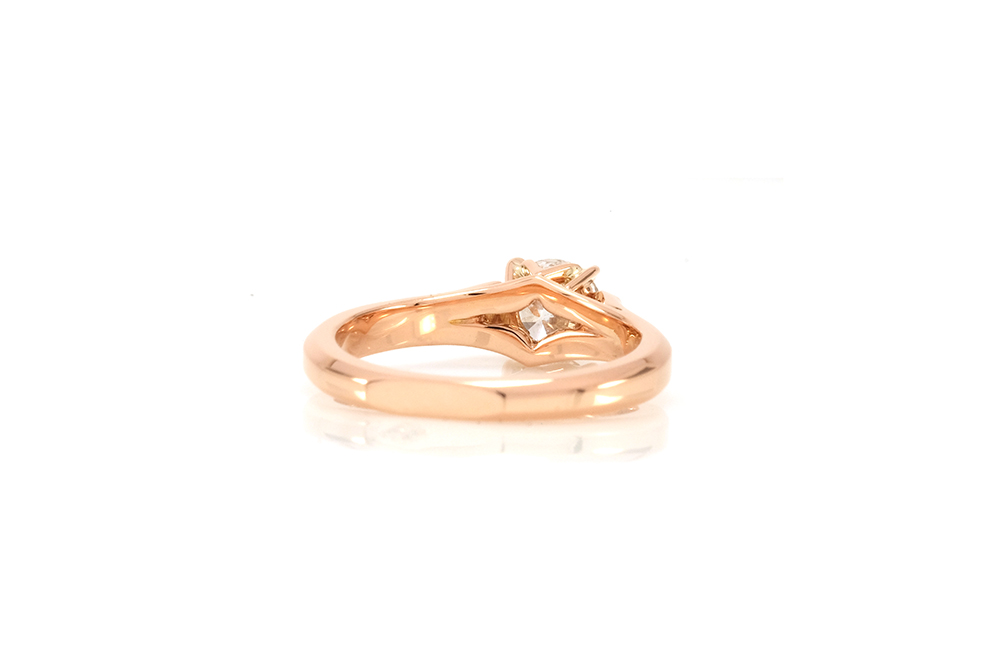 Solitaire Destin, or rouge et diamants 1