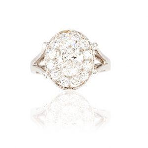 Bague Arctique, or 18 carats, diamants et saphirs 2